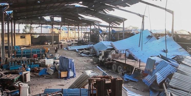 بمباران شهر مصراته لیبی با جنگنده های ناشناس خارجی