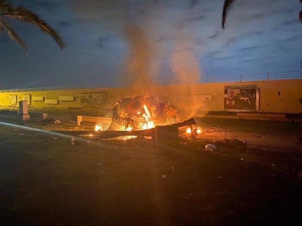 حمله موشکی به خودروی مسئول روابط عمومی حشدشعبی در بغداد (