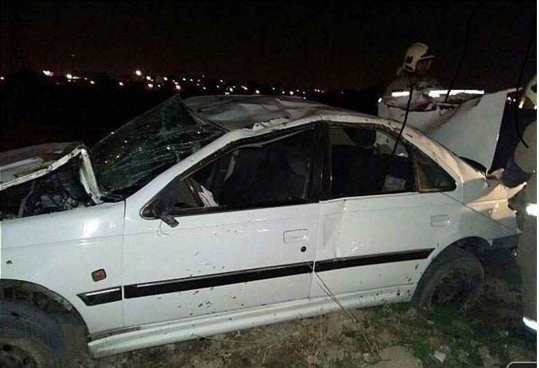 خبرنگاران وقوع 2 تصادف زنجیره ای در تهران 6 مصدوم داشت